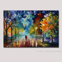 hand painted modern palette knife textured oil painting on ...