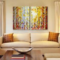 handpainted modern home decor painting living room hall ...