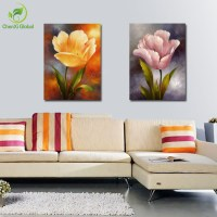 2 panels modern wall decoration painting flower painting ...