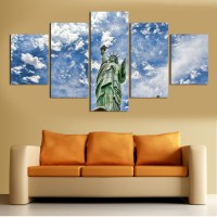 2016 new 5 pcs wall art abstract modern hd picture home ...