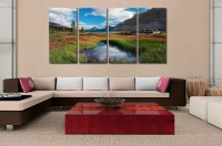 4 panel landscape painting canvas wall art picture home