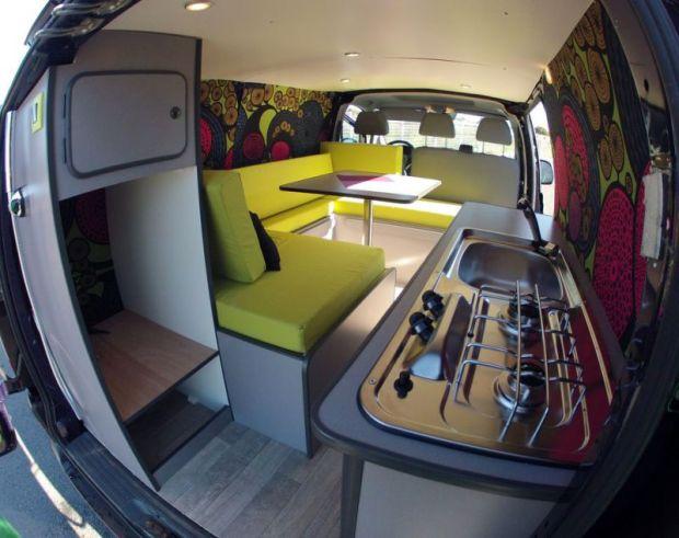 kit amovible am nagement de van kapam van magazine. Black Bedroom Furniture Sets. Home Design Ideas
