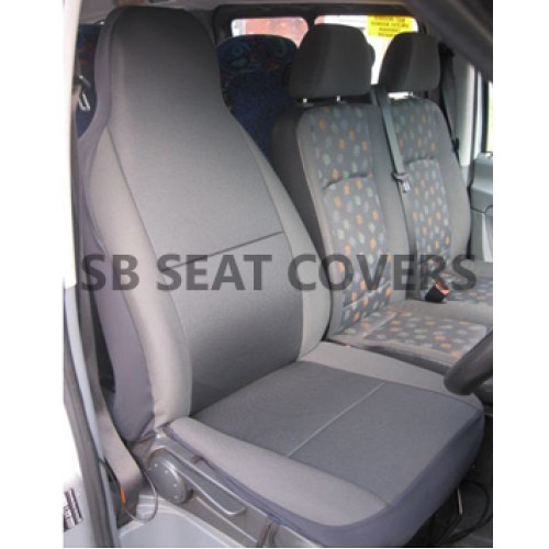 Ford Transit van seat cover anthracite cloth fabric 1