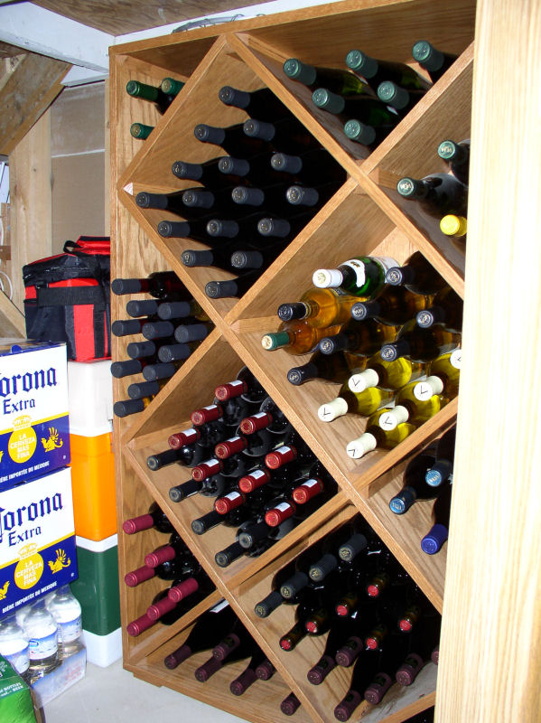 square wine rack plans