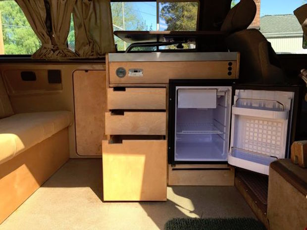 Custom Kitchen Cabinets in a Weekender  Vanagon Hacks