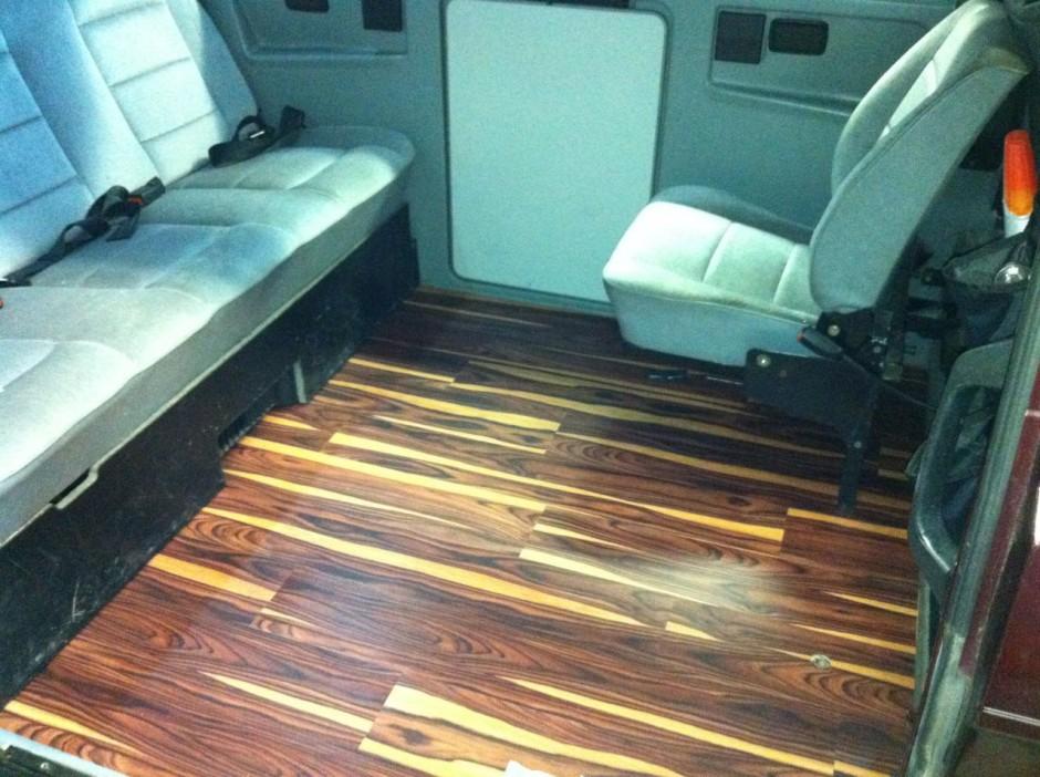 African Wood laminate flooring  Vanagon Hacks  Mods