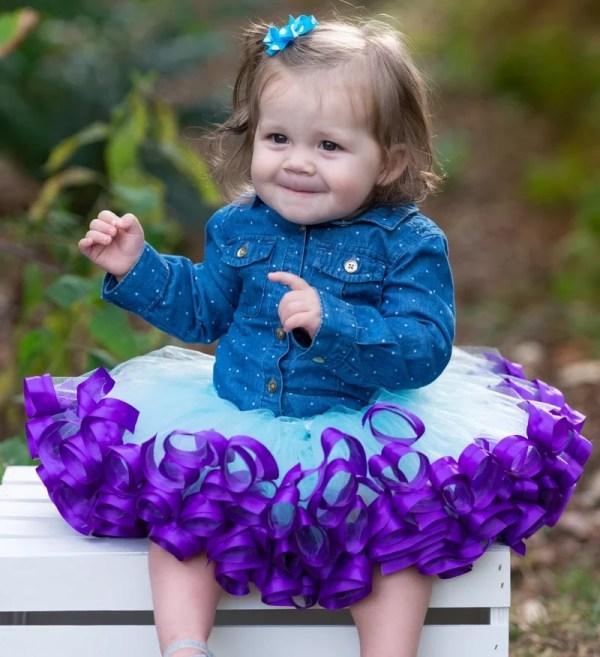 baby girl birthday tutu dress