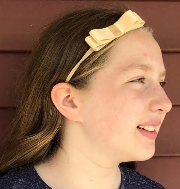 baby girl small bow headband