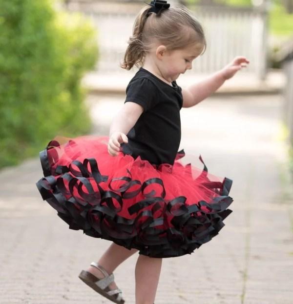 black and red tutu costume