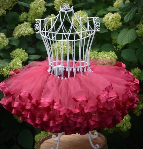 burgundy tutu flower girl dress