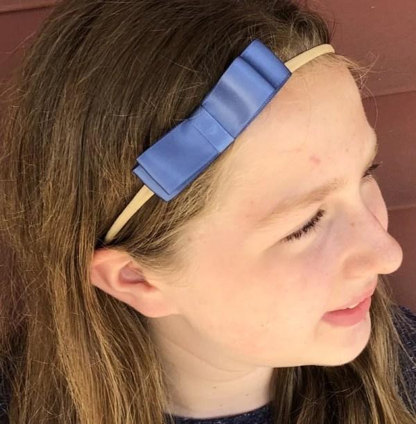 dusty blue hair bow