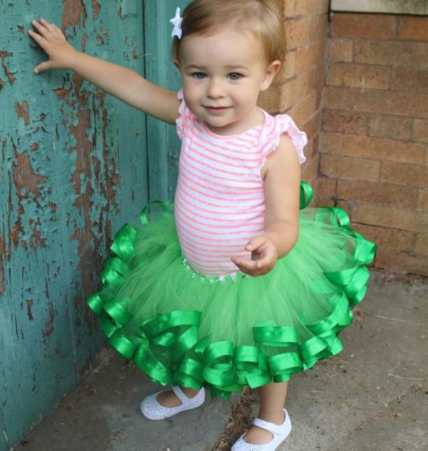 green tutu baby