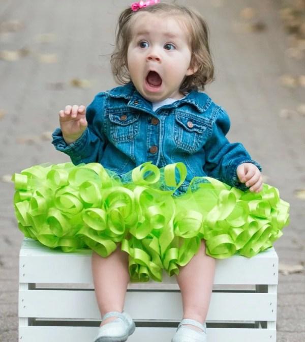 green tutu toddler