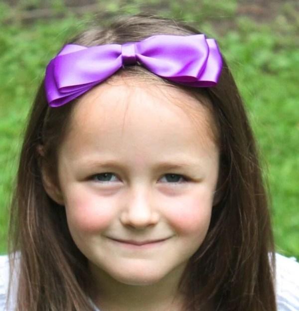 large purple bow headband