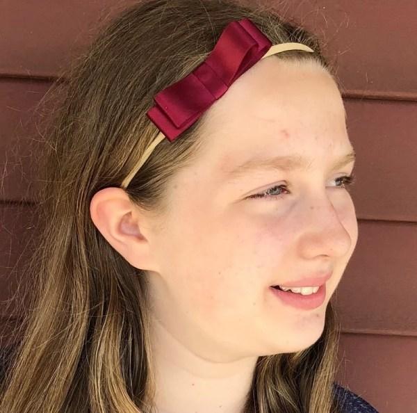 satin bow headband baby