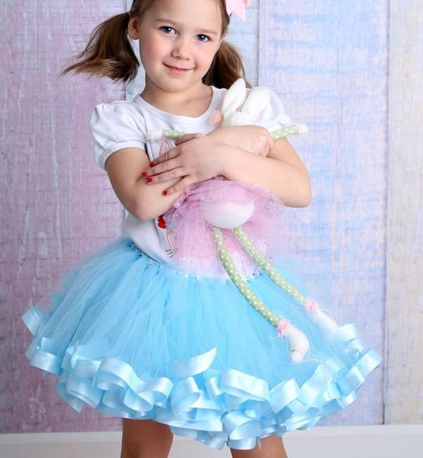 sky blue tutu dress