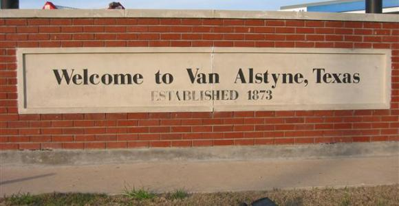 Welcome to Van Alstyne,TX Sign - Van Alstyne Homes