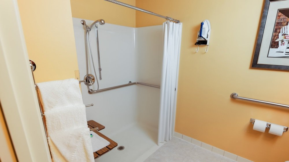 2 Full Beds Accessible Room w Rollin Shower  The Van Buren Hotel