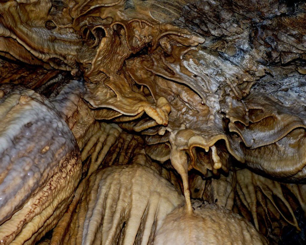 Horne Lake caves calcite formations - fascinating finds on Vancouver Island