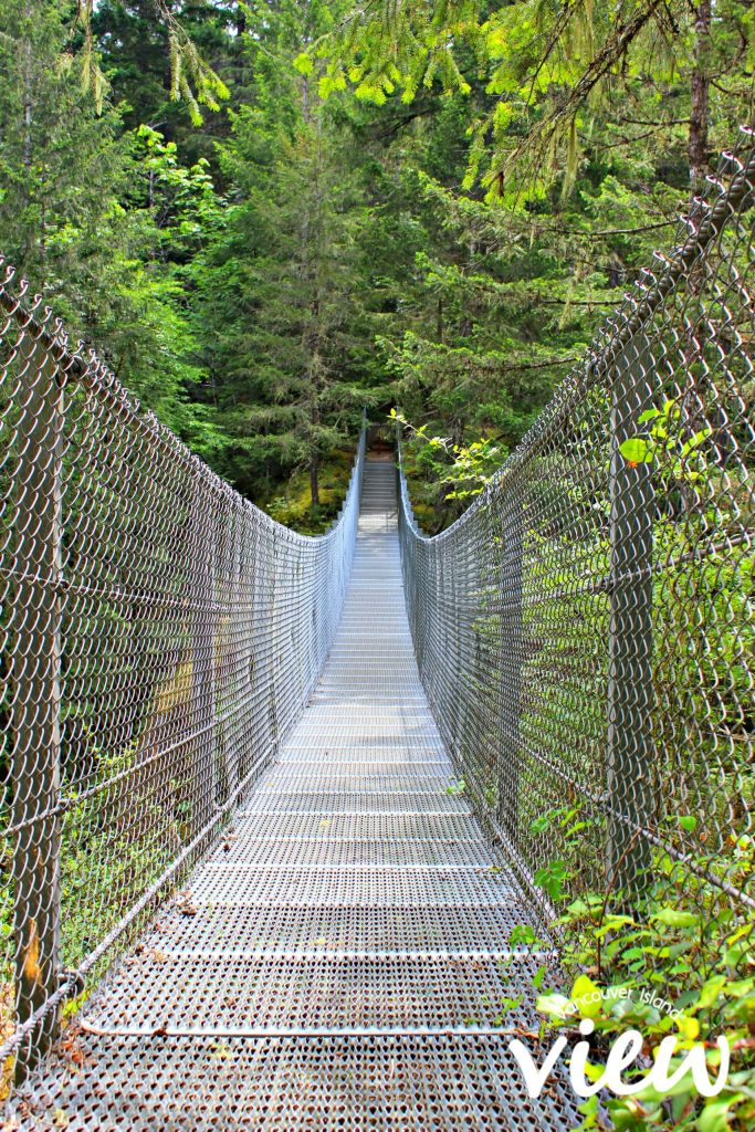 Haslam Creek Suspension Bridge - one of the many hidden gems on Vancouver Island.