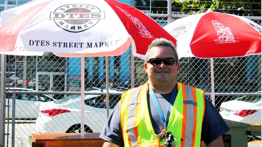 DTES Street Market's Roland Clark. Photo by Alyse Kotyk