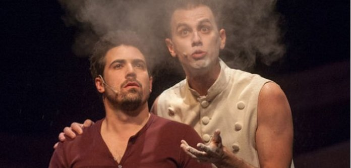 Kayvon Kelly and Ben Elliott in the Firehall Arts Centre production of Chelsea Hotel
