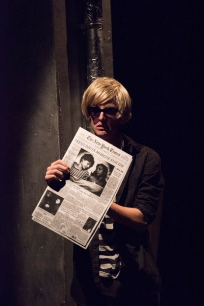 Nathan Kay as Andy Warhol plays host to the star-crossed lovers in The Factory. Photo by David Cooper.