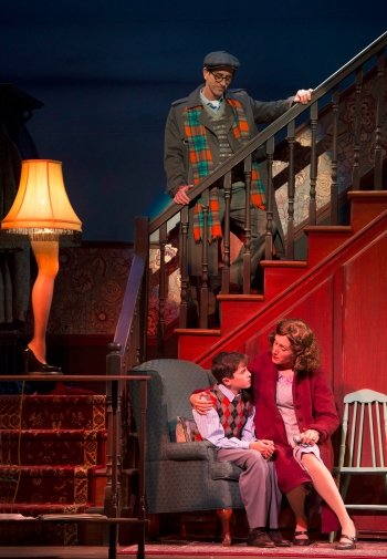 Duff MacDonald, Valin Shinyei and Meghan Gardiner in A Christmas Story: The Musical. Photo by David Cooper.