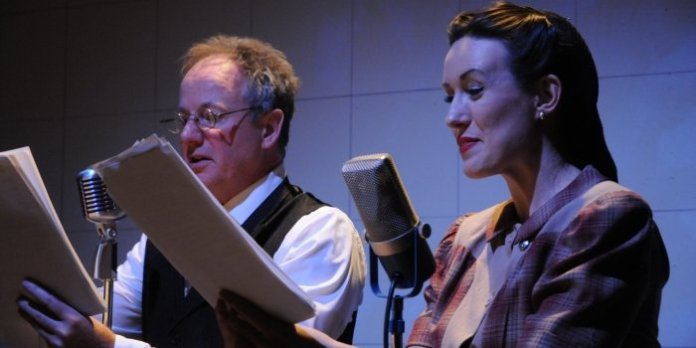 Paul Griggs and Kirsty Provan in A Christmas Carol: On the Air. Photo by Damon Calderwood.