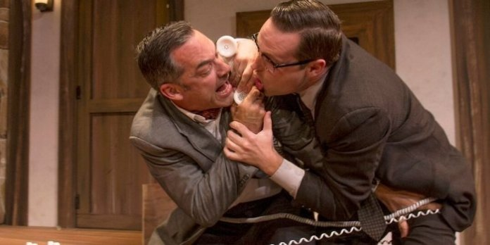 Todd Thomson and Kirk Smith in Don't Dress for Dinner. Photo by Mark Bergin.