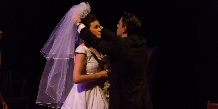 Alexis Kellum-Creer and Adam Beauchesne in A Prayer for Owen Meany.Photo by Javier R. Sotres.