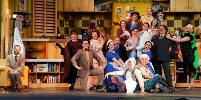 The cast of the Theatre Under the Stars production of The Drowsy Chaperone. Photo by Tim Matheson.