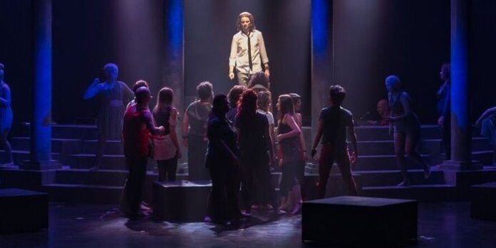 The cast of the URP production of Jesus Christ Superstar. Photo by Robert Sondergaard.