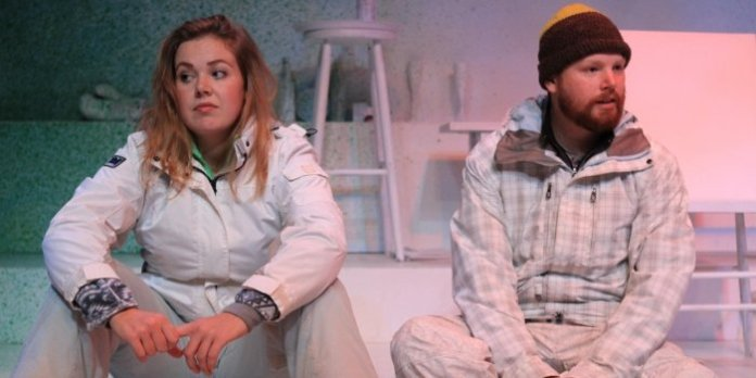 Kim Larson & Peter Carlone in the Pacific Theatre production of Almost, Maine. Photo by Ron Reed.