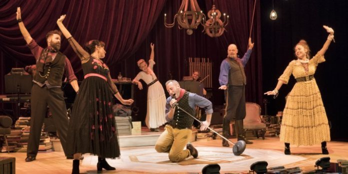 The cast of the Arts Club Theatre Company production of Onegin. Photo by David Cooper.