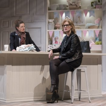 Jennifer Lines & Colleen Wheeler in Forget About Tomorrow. Photo by David Cooper.