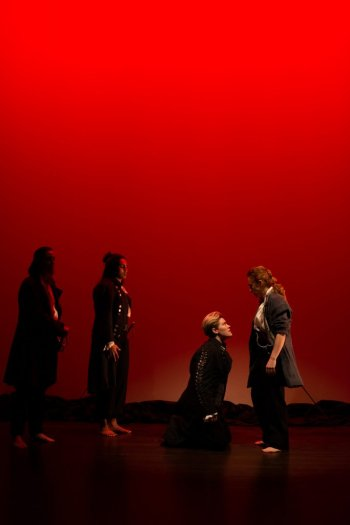 Corina Akeson, Adele Noronha, Sara Vickruck, Kayla Deorksen in the Classic Chic Productions presentation of Much Ado About Nothing.