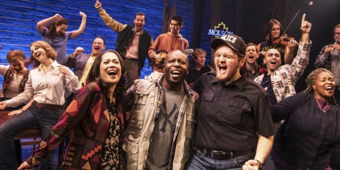 The First North American Tour Company of Come From Away. Photo by Matthew Murphy.