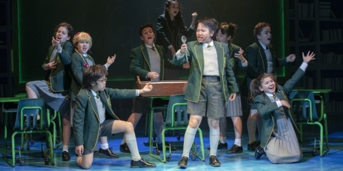 Members of the cast of Matilda the Musical. Photo by David Cooper.