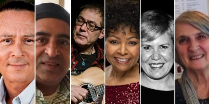 """Walter Daroshin, R. Paul Dhillon, Don Alder, Candus Churchill, Lynne Partridge and Valerie (""""Valley"""") Hennell are the 2020-2021 inductees in the BC Entertainment Hall of Fame."""