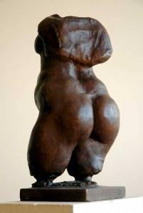 bronze sculpture of female torso by Geemon Xin Meng
