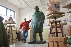 portrait sculpture by Geemon Xin Meng, Vancouver sculptor