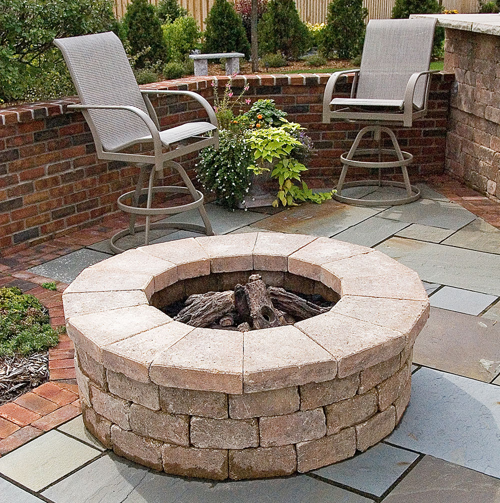Fire Pit and Landscape Design in Appleton WI