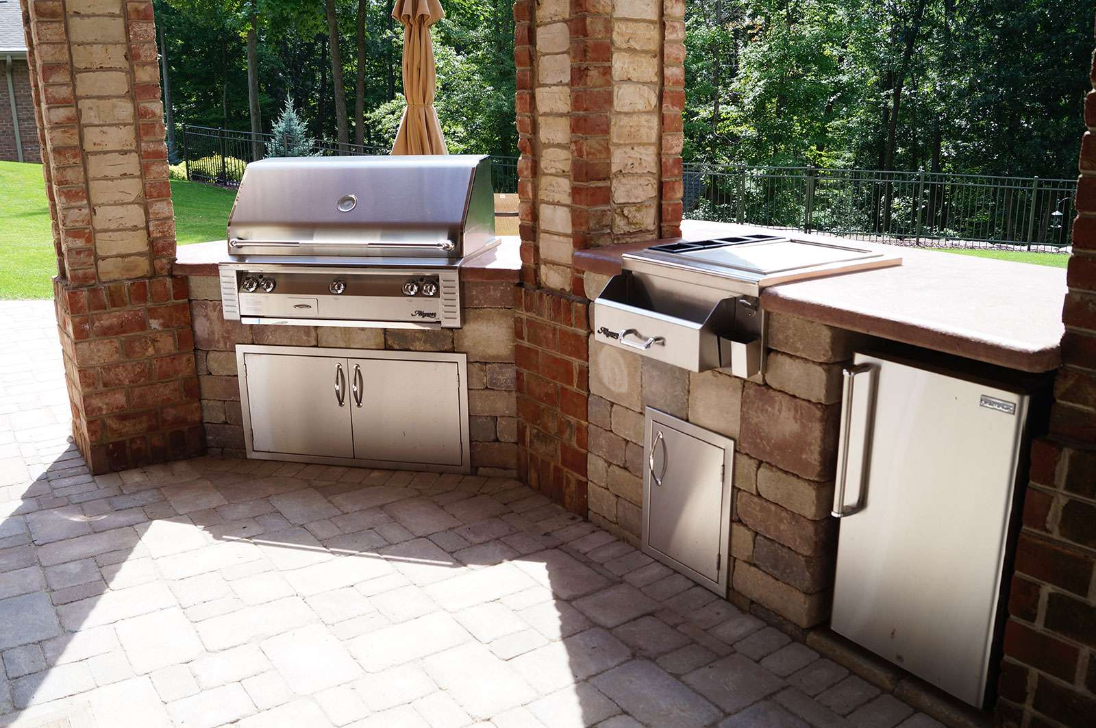 outdoor kitchens pictures soapstone kitchen sink and landscape design in the fox cities gallery portfolio