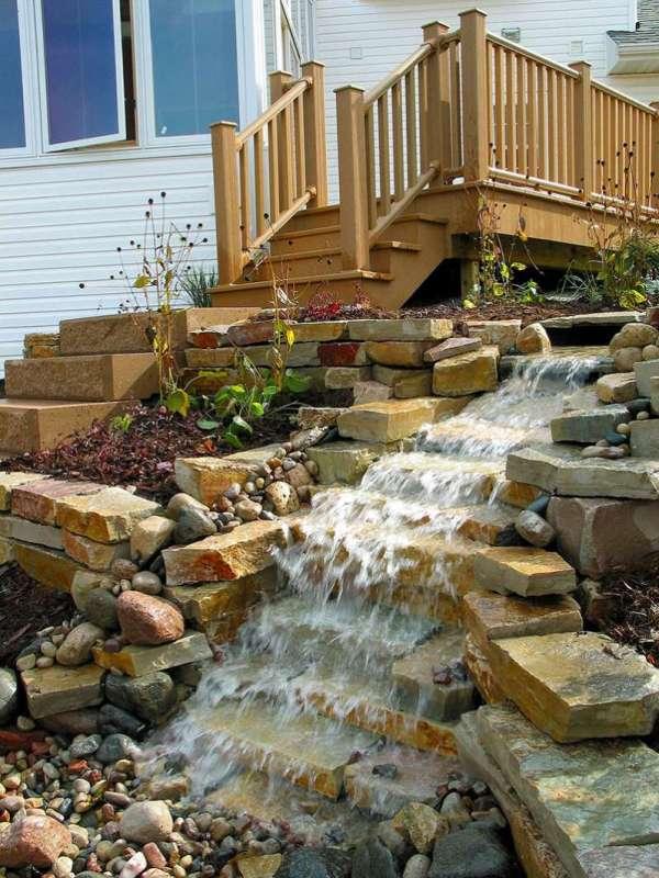 outdoor water features falls