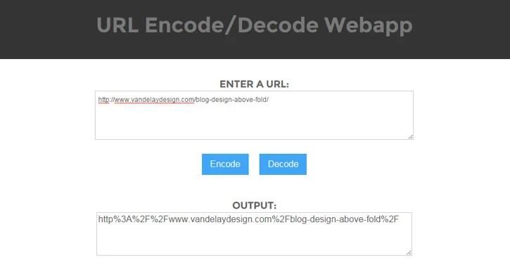 URL Encode/Decode Webapp with jQuery