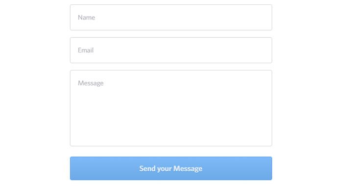 yummygum website contact form design