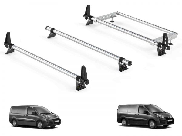 Rhino Delta 3 Bar Roof Rack Rear Roller Bundle Citroen