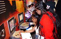 Students at Interactive Classroom Stations