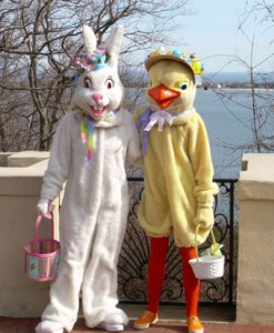 Easter Bunny and L'il Chick
